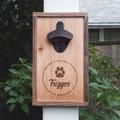 Personalized Wood Bottle Opener Pet Sympathy Gift