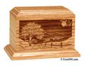 Laser Etched Road Home Pet Cremation Urn