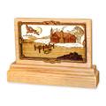 Small Oak Keepsake Urn - Cabin