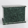 Natural Marble Single Compartment Companion Urn in Green