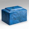 Classic Cultured Marble Urn in Mystic Blue