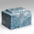 Classic Cultured Marble Urn in Sky Blue
