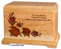 Rose Inlay Urn | Red Roses | With Laser Engraved Inscription