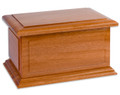 Boston II Solid Wooden Companion Cremation Urn Made in the USA