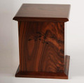 Cherry Wood Urn with Laser Carved Seagulls
