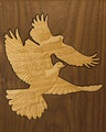 Maple Doves Inlay - Detail