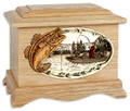 Fish Cremation Urn with Bass (OAK)