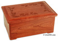 Autumn Leaves Wood Cremation Urn - Cherry