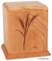 Laser Carved Wheat Cremation Urn