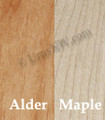 Your choice of alder or maple wood