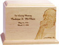 Photo Engraved Funeral Urn - Horizontal