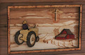 Companion Urn Scene: Tractor and Cross