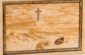 Companion Urn Scene: Footprints in the Sand