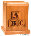 Blocks Infant Urn | Child Cremation Urns