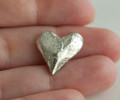 Pewter Heart Pocket Charms | Heart Keepsake