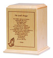 Lord's Prayer Cremation Urn | Walnut Wood