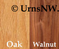 Oak or Walnut Wood urns