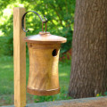 Birdhouse Scattering Urn Turned Birdsong | Sample