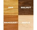 Oak, Walnut, Mahogany, or Maple Wood
