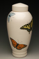 Hand Painted Butterfly Companion Urn