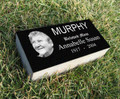 Personalized Granite Grave Marker - Oval Portrait