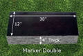 Granite Grave Marker - Double