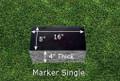 Granite Grave Marker - Single Small