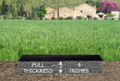Personalized Granite Grave Marker - Depth Chart
