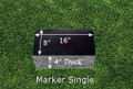 Granite Grave Marker - Single Small
