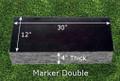 Granite Grave Marker - Deluxe