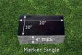 Granite Grave Marker - Single Large
