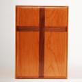 Cherry wood with Walnut cross inlay