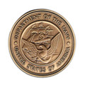 Military Cremation Urn Medallion - Navy