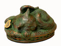 Cat Cremation Urn - Verdigris