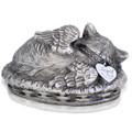 Cat Angel Urn with Name Tag