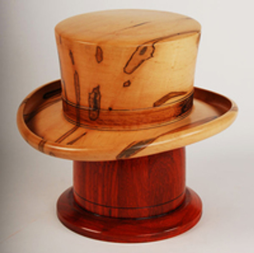Hand-Turned Maple Wood Hat Cremation Urns