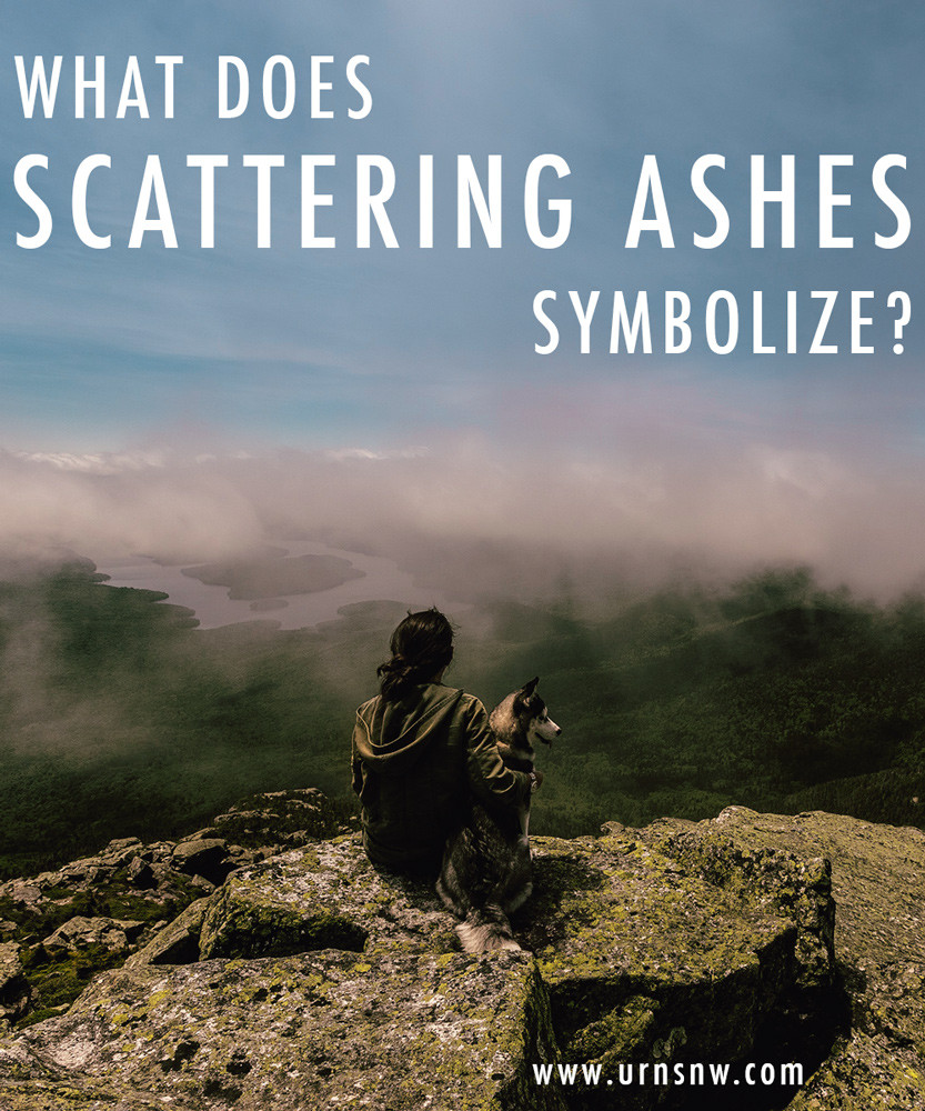 What does scattering ashes symbolize?