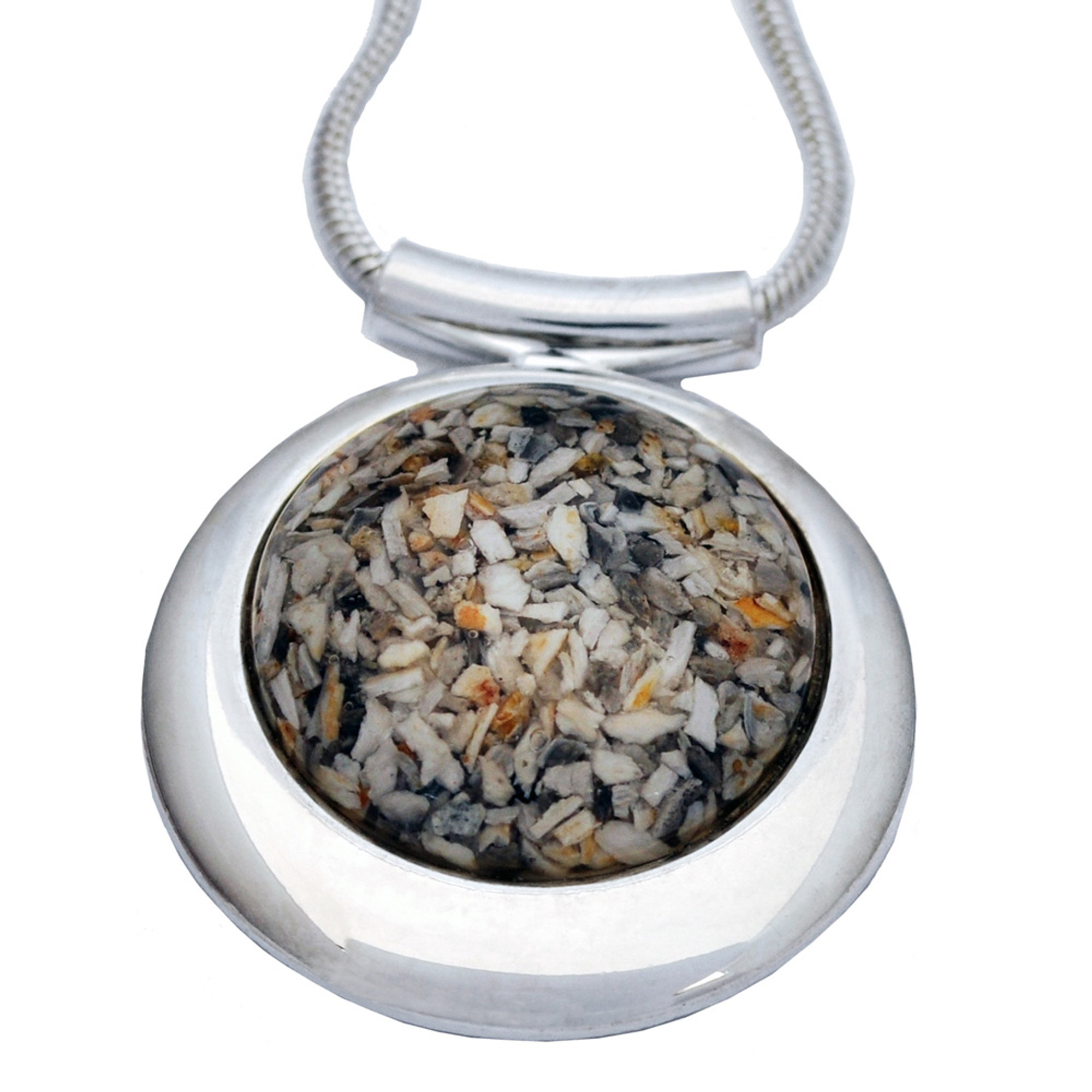 Large Round Deluxe Memorial Necklace Made with Your Loved ...