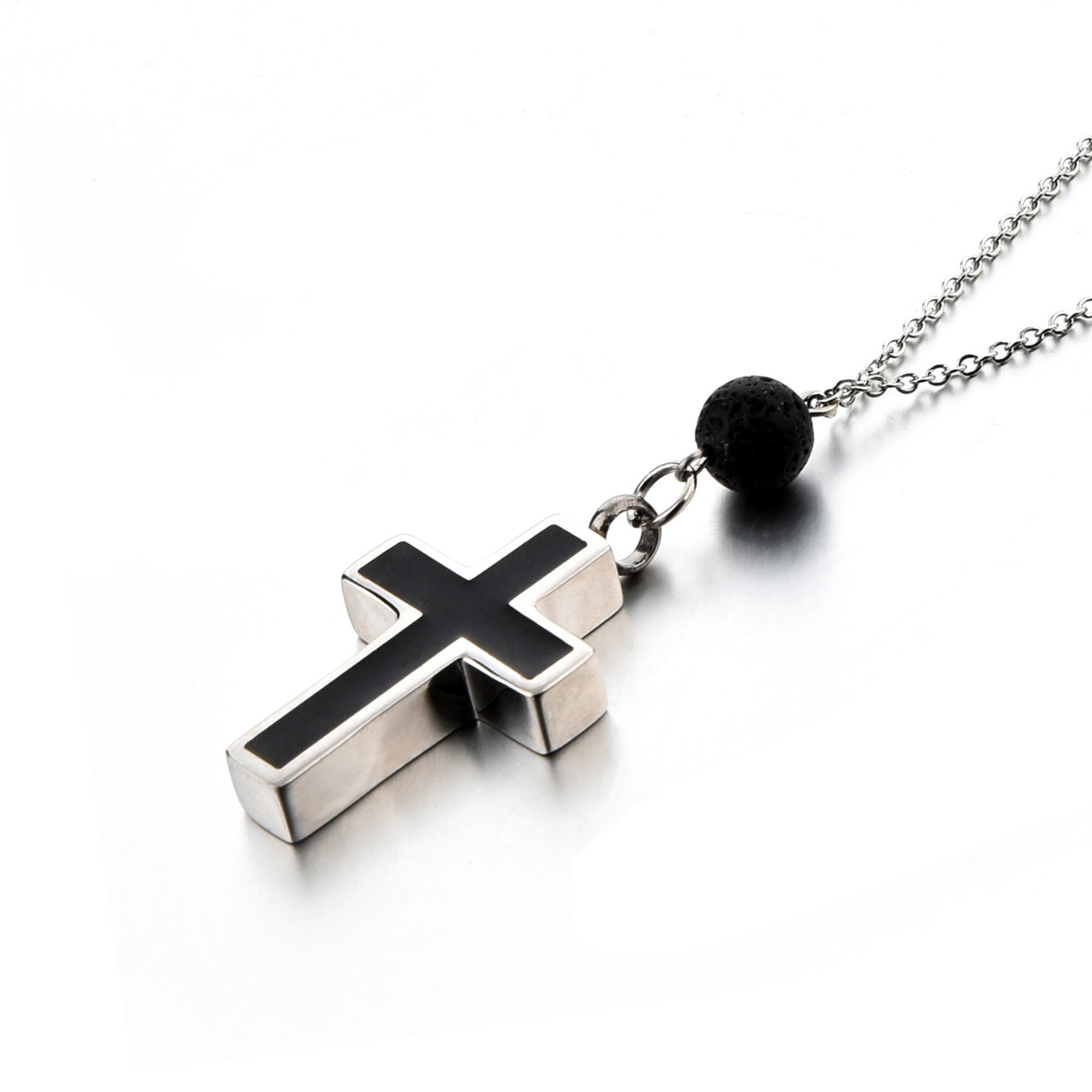 Cross Urns Jewelry for Ashes Stainless Steel Cremation Urn Pendant Memorial Keepsake Cremation Jewelry
