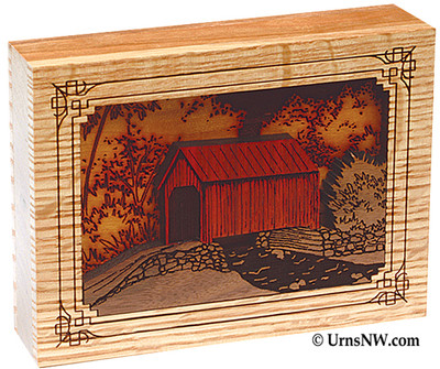 Covered Bridge Dimensional Keepsake Urn