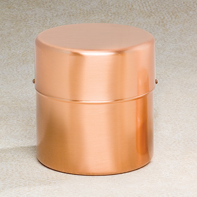 Copper Cylinder Cremation Urn