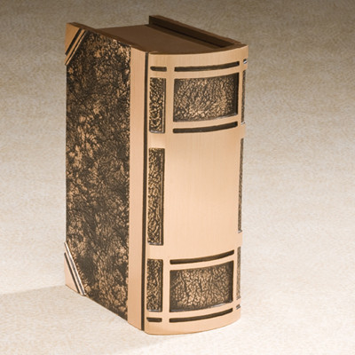 Cast Bronze Book Cremation Urn
