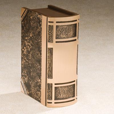 Cast Bronze Book Cremation Urn