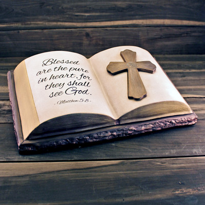 Handmade Ceramic Bible Cremation Urn