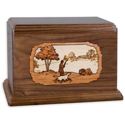 Hunting Dog Companion Urn - Walnut Wood
