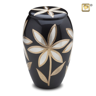 Majestic Lilies Brass Cremation Urn