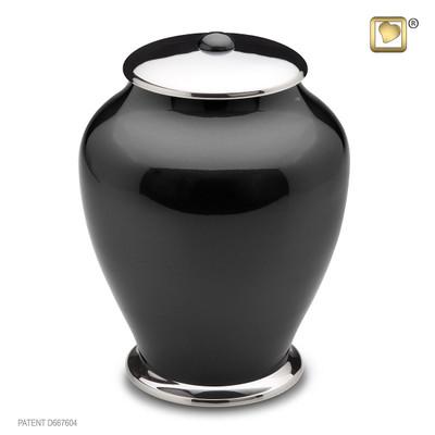 Midnight Simplicity Brass Cremation Urn