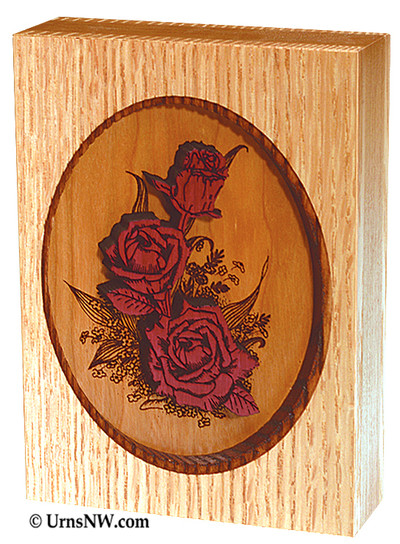 Rose Bouquet Dimensional Keepsake Urn