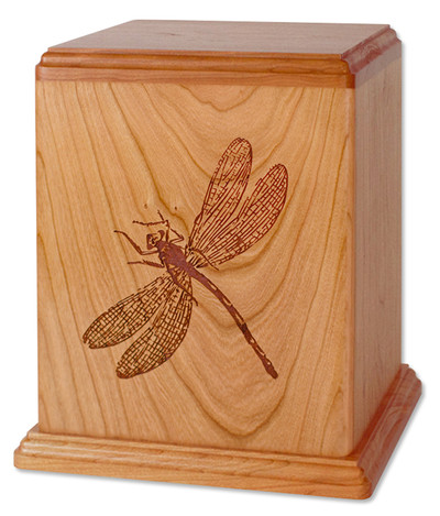 Laser Carved Dragonfly Cremation Urn