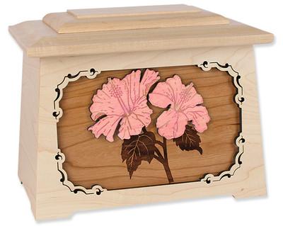 Hibiscus Flower Cremation Urn